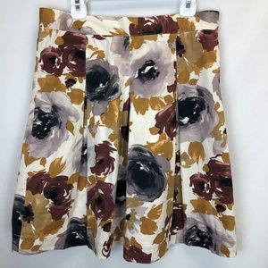 Weston Wear Anthropologie Floral Pleated Skirt